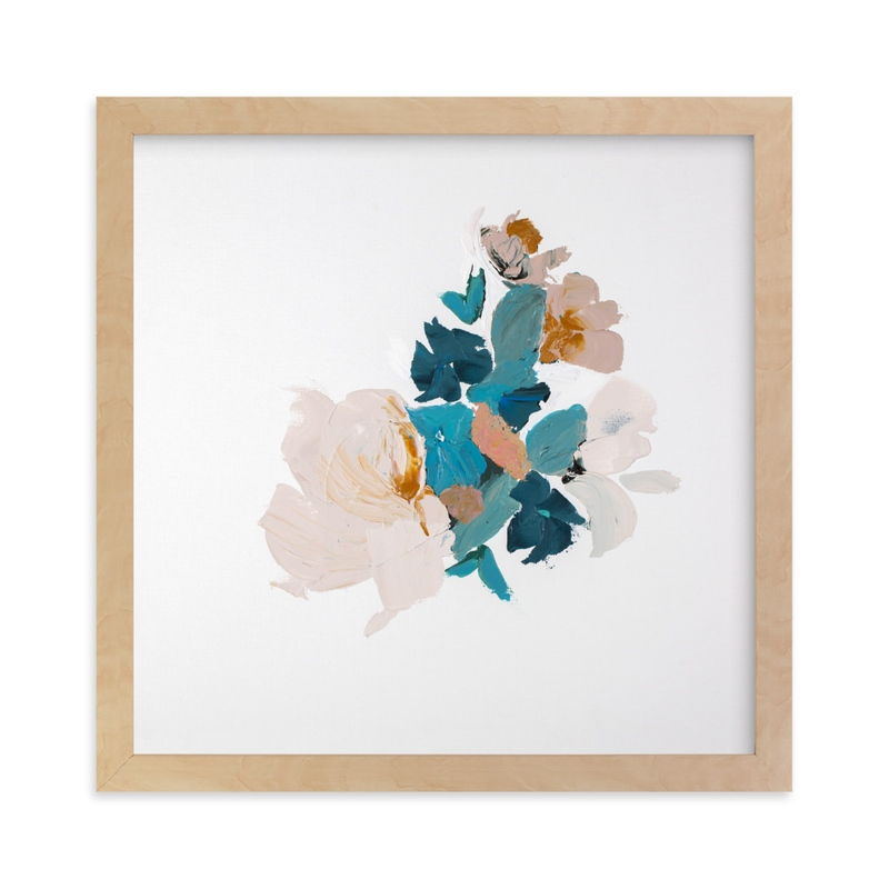 """Botanical Series Turquoise"" - Limited Edition Art Print by Caryn Owen in beautiful frame options and a variety of sizes."