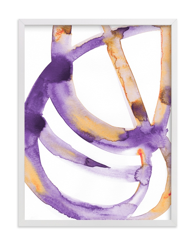 This is a purple art by Mary Gaspar called Silence in the Sand Dunes.