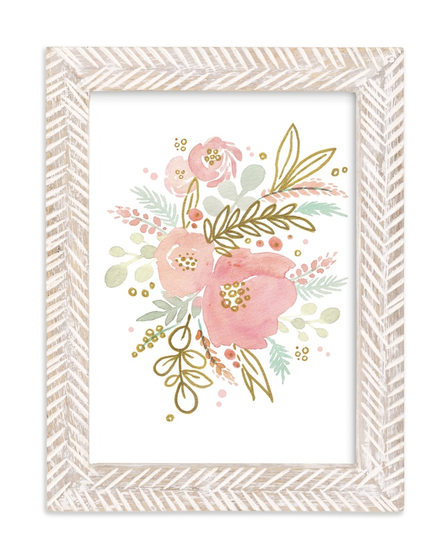 """""""Blush Blooms"""" - Limited Edition Art Print by Kristen Smith in beautiful frame options and a variety of sizes."""