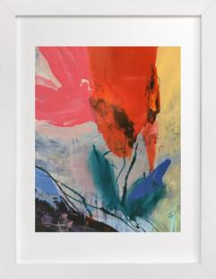 Flower Water Vase Art Print