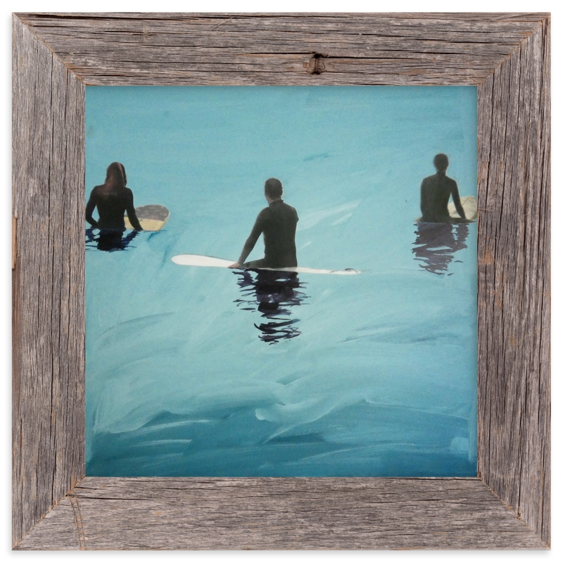 """3 Surfers Waiting, Venice Pier"" - Limited Edition Art Print by Annie Seaton in beautiful frame options and a variety of sizes."