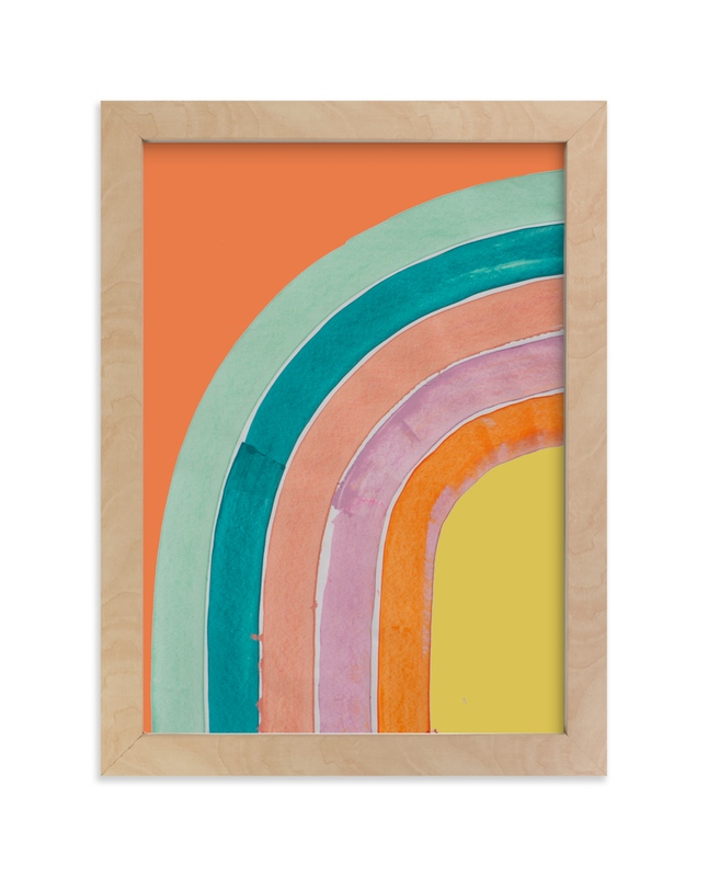 """Sherbet Rainbow"" - Limited Edition Art Print by Lise Gulassa in beautiful frame options and a variety of sizes."