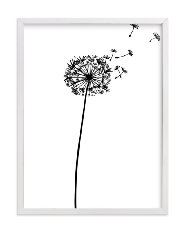 """""""dandelion"""" - Limited Edition Art Print by Yuke Li in beautiful frame options and a variety of sizes."""