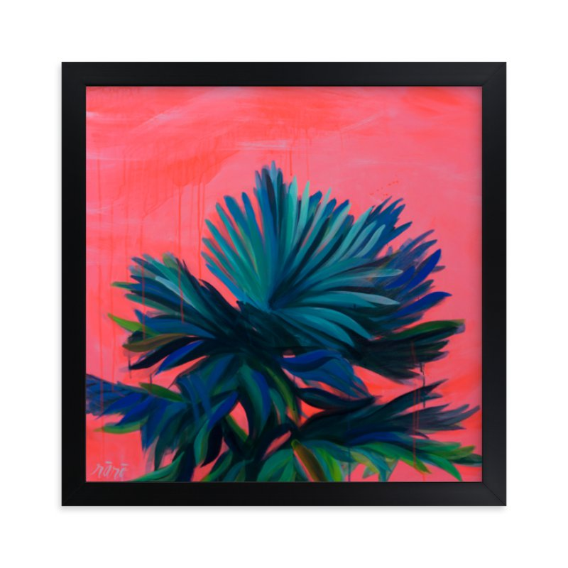 """Tropic Like It's Hot"" - Limited Edition Art Print by Rachel Roe in beautiful frame options and a variety of sizes."