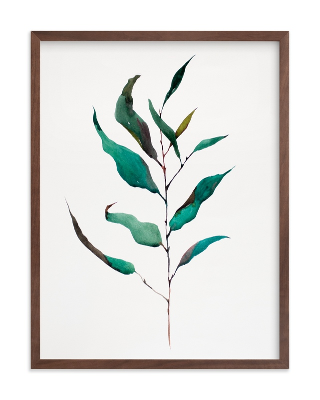 """""""Eucalyptus Foliage"""" - Limited Edition Art Print by jinseikou in beautiful frame options and a variety of sizes."""