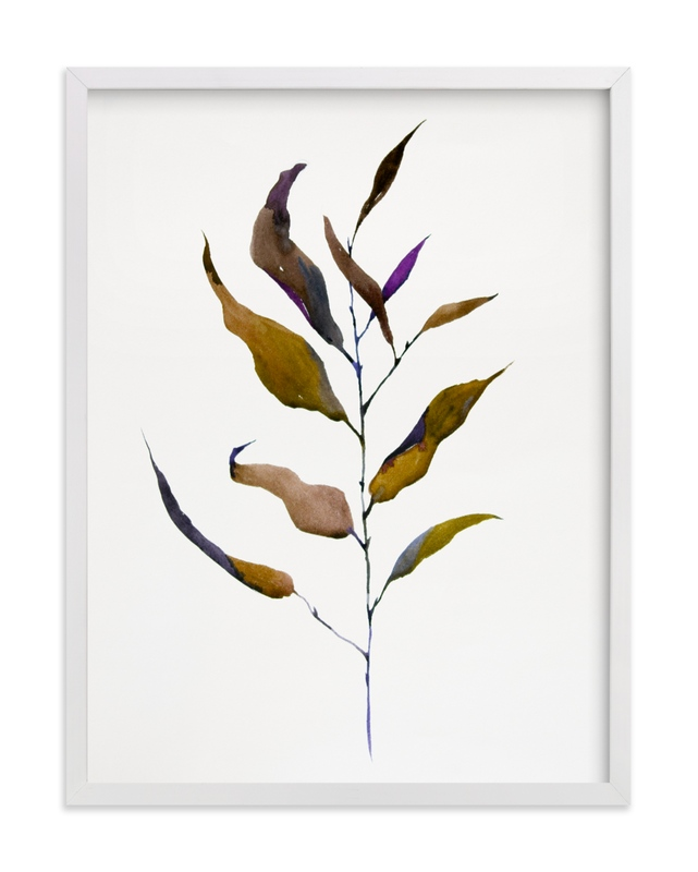 This is a colorful art by jinseikou called Eucalyptus Foliage with standard.