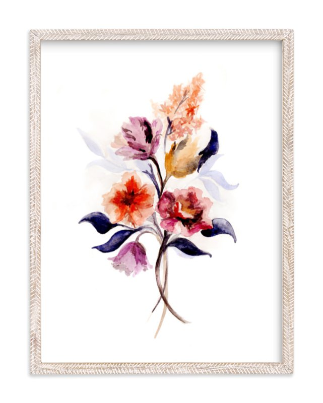 """""""Grecian Floral"""" - Limited Edition Art Print by Olivia Kanaley Inman in beautiful frame options and a variety of sizes."""