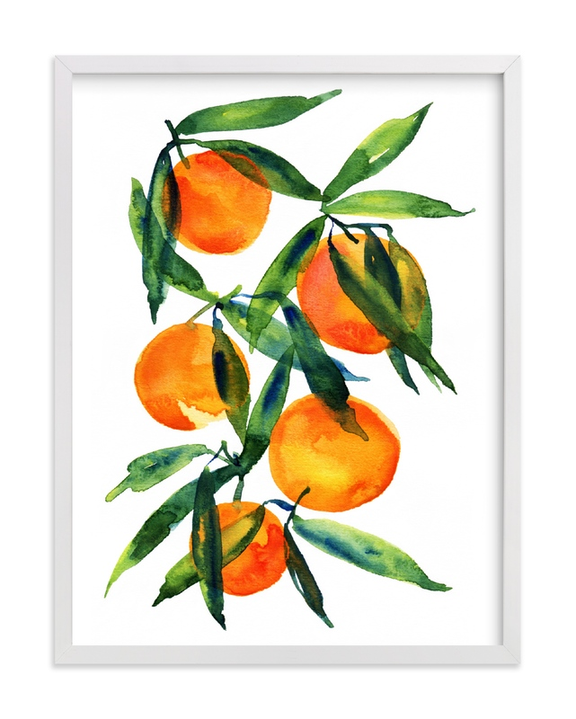 """""""Tangerine"""" - Limited Edition Art Print by Alexandra Dzh in beautiful frame options and a variety of sizes."""