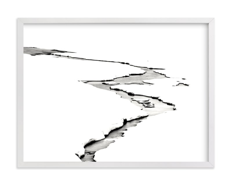 This is a black and white art by Leslie Le Coq called Silver Ice.