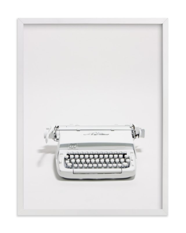 """""""The Typewriter"""" - Limited Edition Art Print by Cristiane in beautiful frame options and a variety of sizes."""