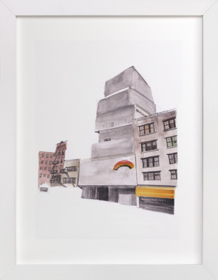 Photo text pattern backer options available · new york street art print