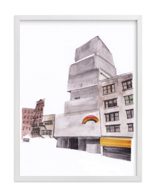 """""""New York Street"""" - Limited Edition Art Print by Viktoria Eperjesi in beautiful frame options and a variety of sizes."""