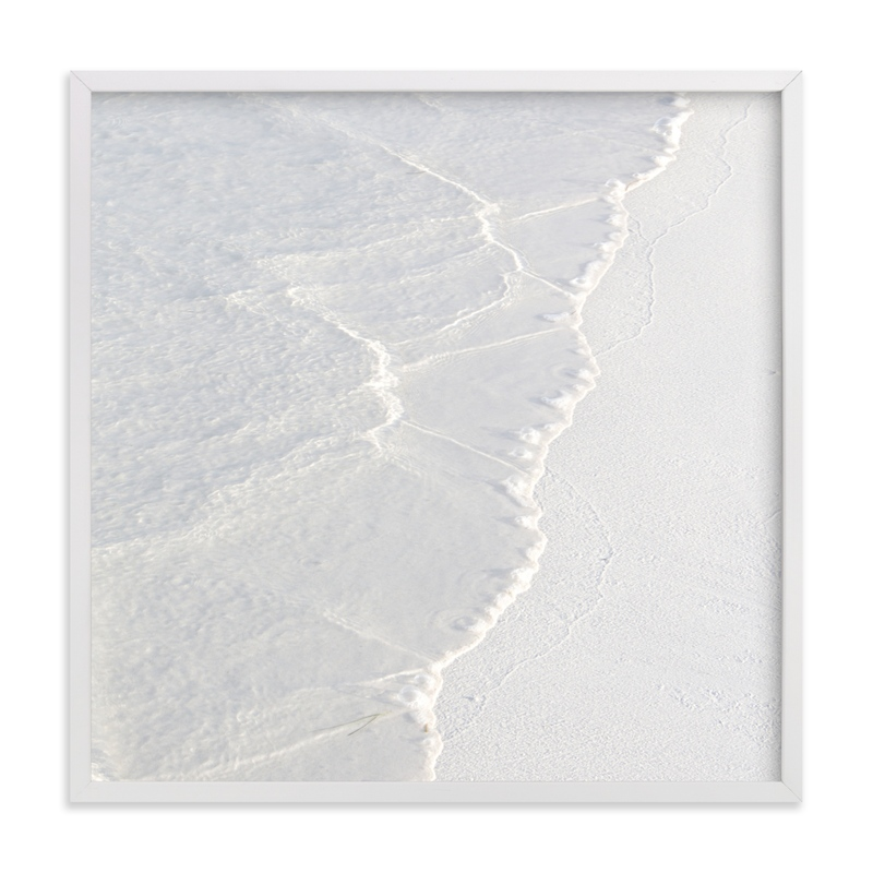 This is a white art by Lisa Sundin called White Water .
