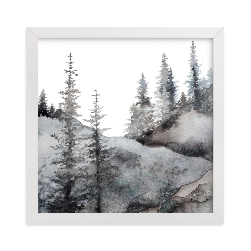 This is a blue art by Katy Abraham called Timberline.
