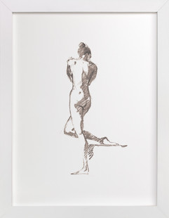 Female Figure Sketch Art Print