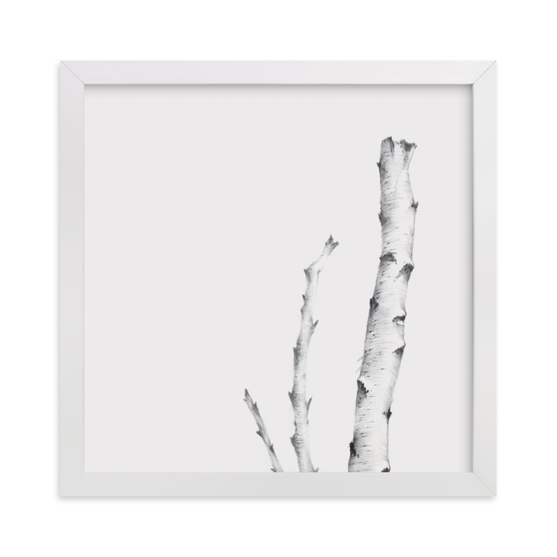 """BIRCH"" - Limited Edition Art Print by jinseikou in beautiful frame options and a variety of sizes."