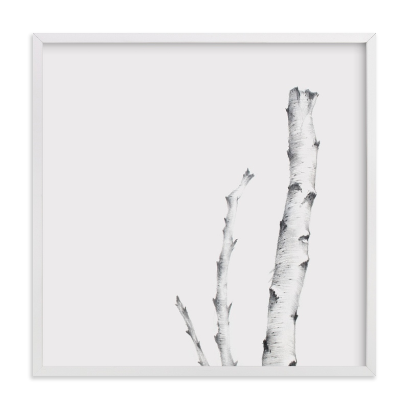 """""""BIRCH"""" - Limited Edition Art Print by jinseikou in beautiful frame options and a variety of sizes."""