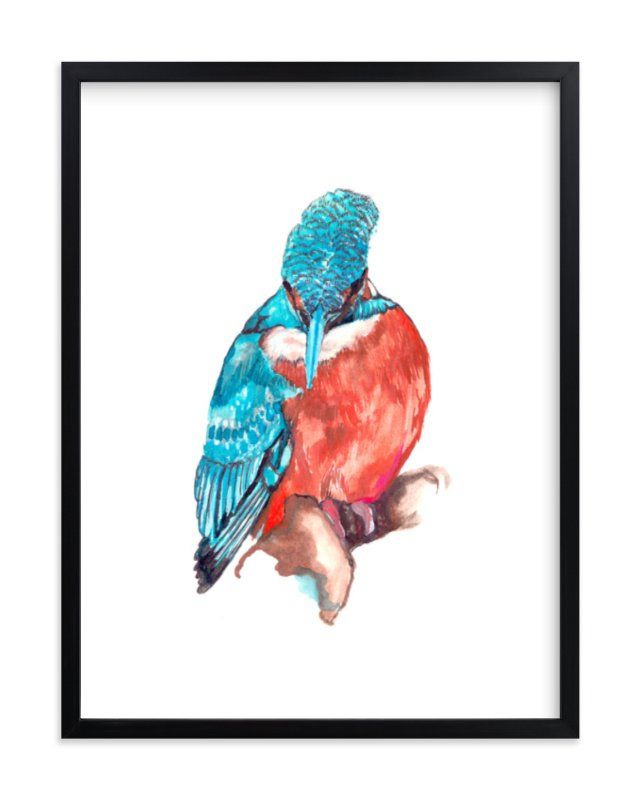 """""""Bird"""" - Limited Edition Art Print by Susanna Nousiainen in beautiful frame options and a variety of sizes."""