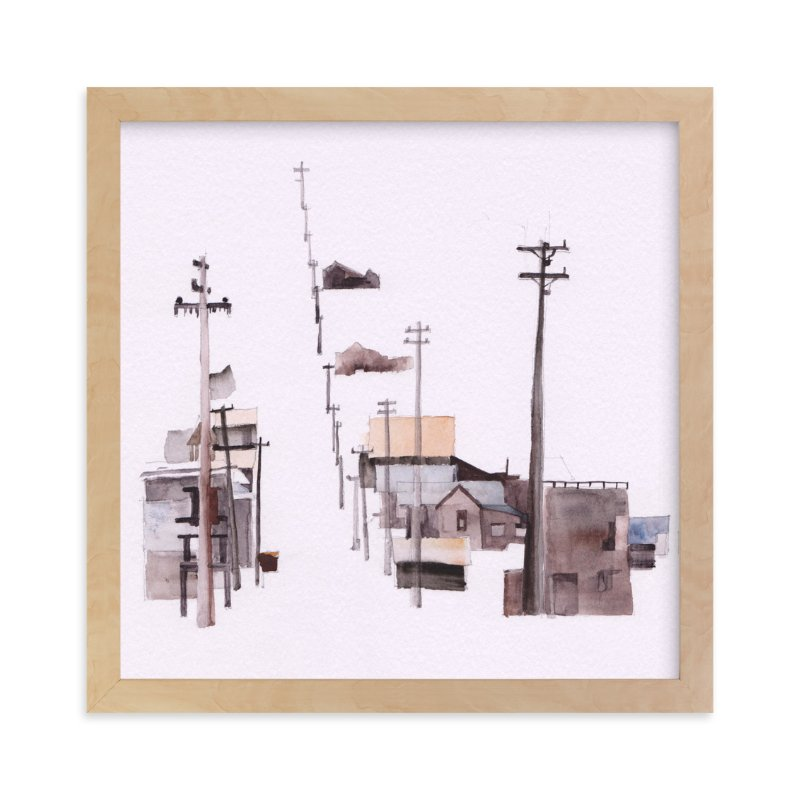 """Bodie Ghosttown"" - Limited Edition Art Print by Viktoria Eperjesi in beautiful frame options and a variety of sizes."