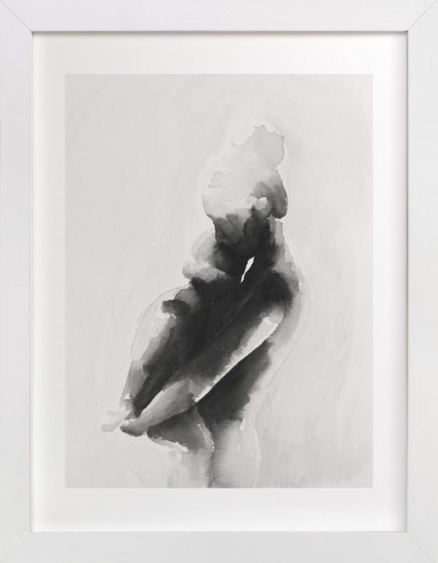 mother embrace Art Print