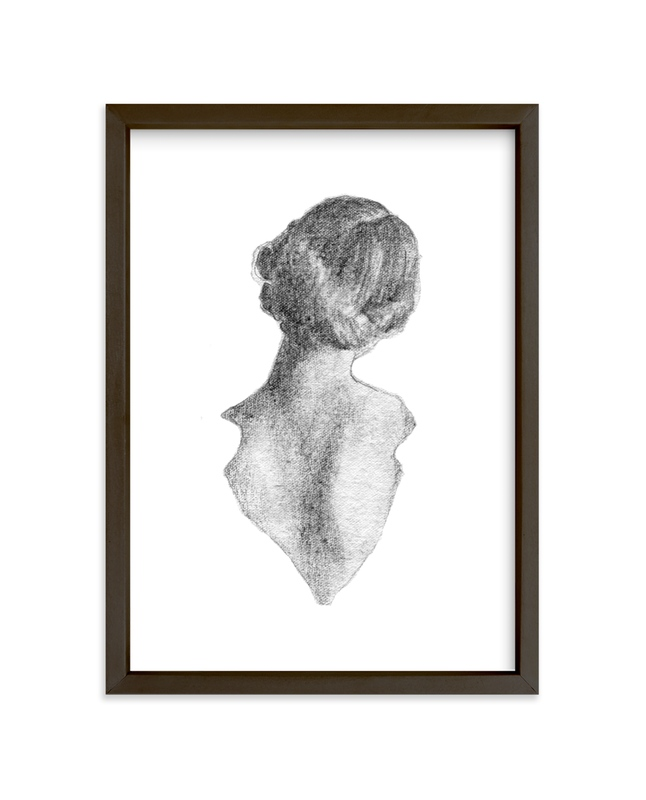 """""""Figure Drawing No.16"""" - Limited Edition Art Print by Jess Blazejewski in beautiful frame options and a variety of sizes."""