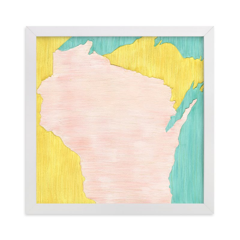 """""""Wisconsin in Paint"""" - Limited Edition Art Print by Denise Wong in beautiful frame options and a variety of sizes."""