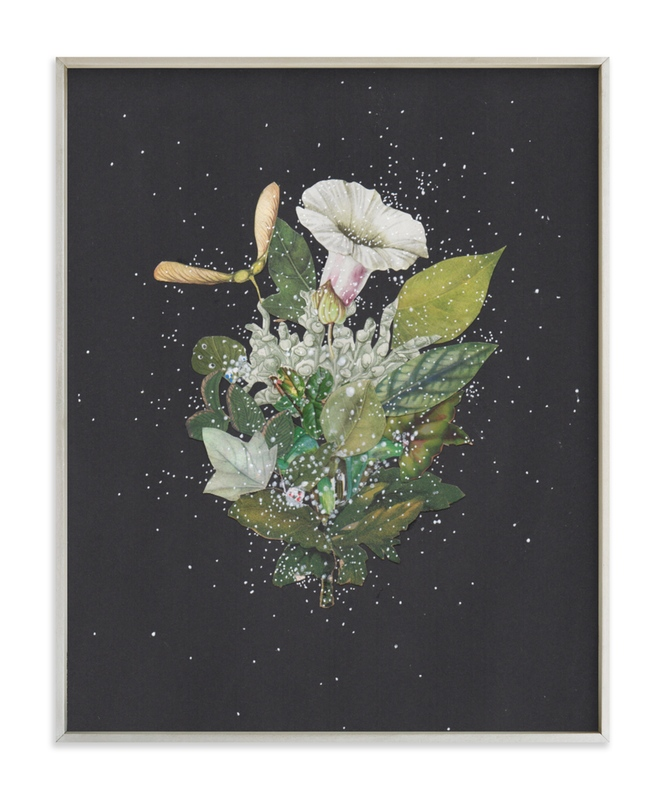 """""""Night Mint Blossom"""" - Limited Edition Art Print by Jenny Brown in beautiful frame options and a variety of sizes."""