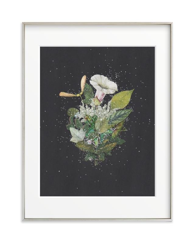 Night Mint Blossom Art Print