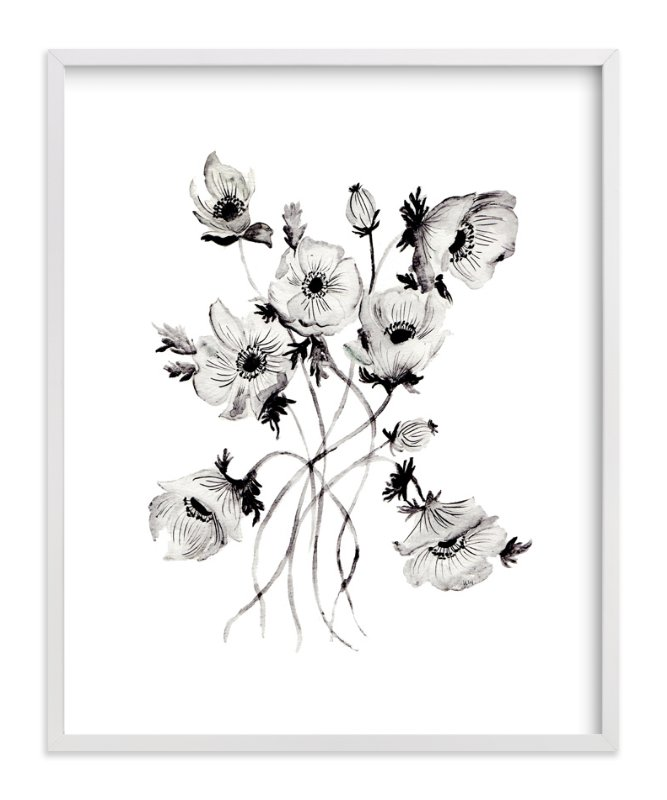 """""""Greyscale Poppies"""" - Limited Edition Art Print by Shannon Kirsten in beautiful frame options and a variety of sizes."""