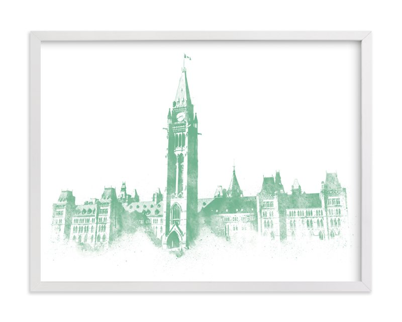 This is a green art by Paul Berthelot called Parliament Hill.