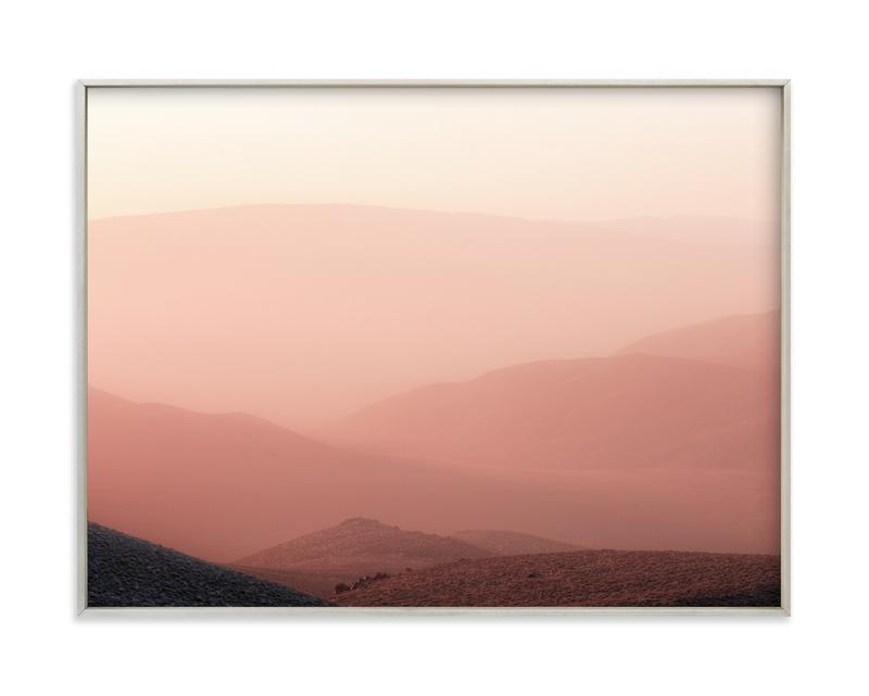 Sunset at Aguereberry Point Art Print