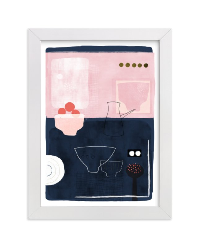 """""""At Lucie's Table"""" - Limited Edition Art Print by Francesca Iannaccone in beautiful frame options and a variety of sizes."""