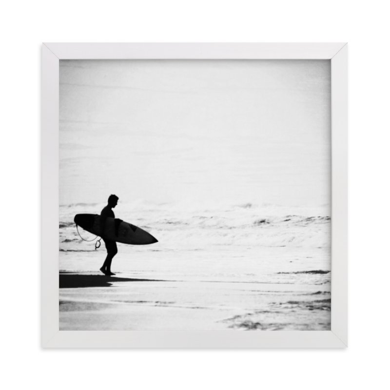 """Just one more wave"" - Limited Edition Art Print by Dawn Smith in beautiful frame options and a variety of sizes."