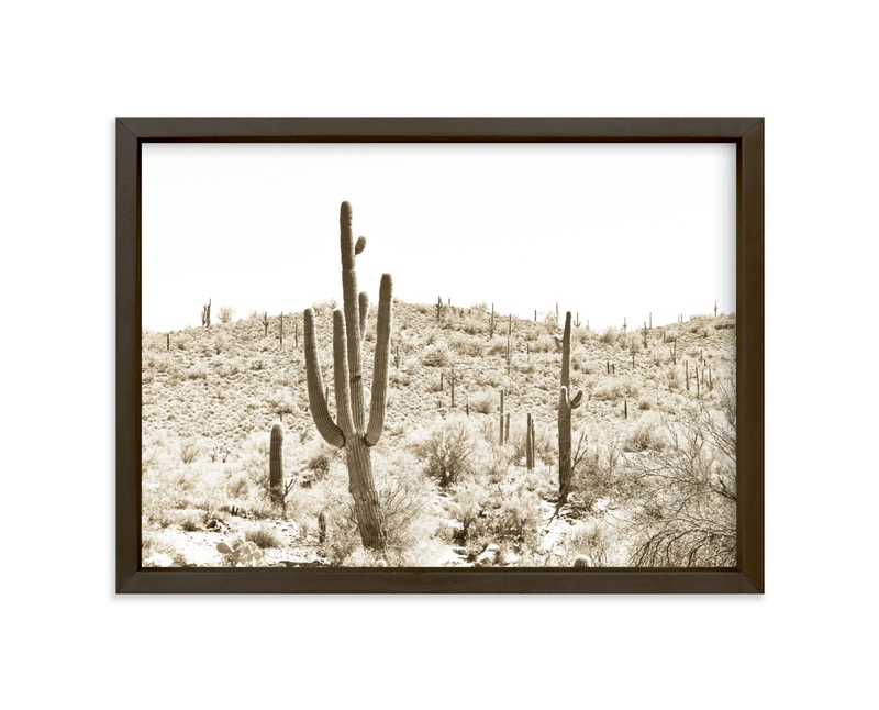 """""""Dusty Cacti"""" - Limited Edition Art Print by Basil Design Studio in beautiful frame options and a variety of sizes."""