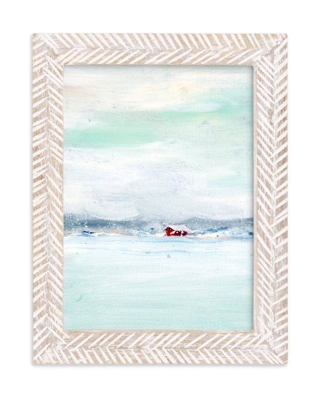 """Frosted Barn"" - Limited Edition Art Print by Lindsay Megahed in beautiful frame options and a variety of sizes."