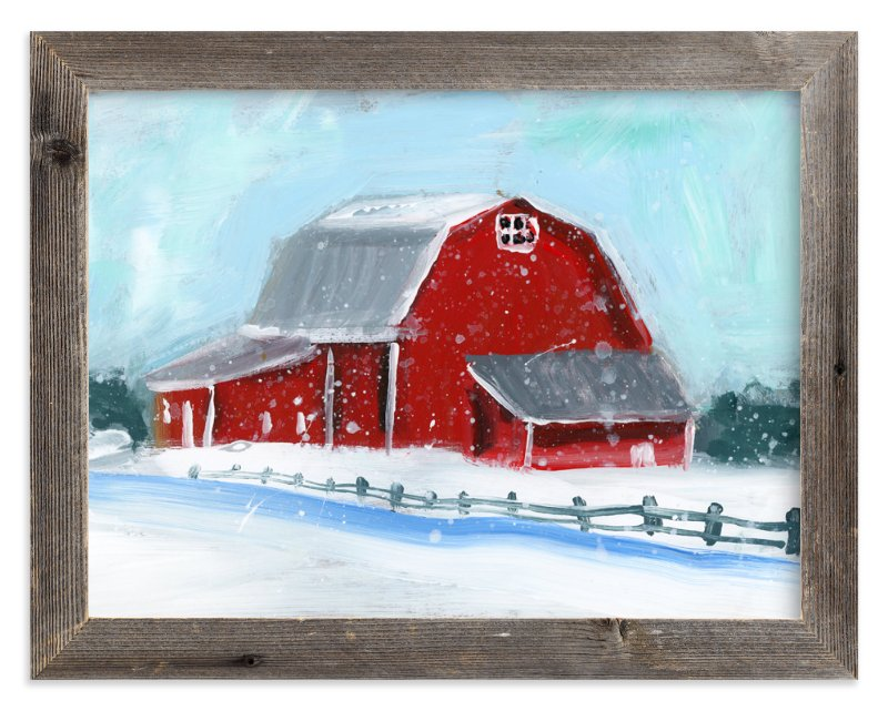 """""""Winter Retreat"""" - Limited Edition Art Print by Lindsay Megahed in beautiful frame options and a variety of sizes."""