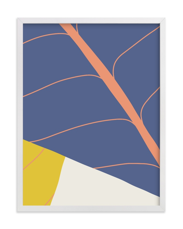 This is a blue art by Vine and Thistle called Abstract Leaves.