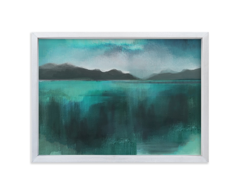 """Ice Lands"" - Limited Edition Art Print by Alison Jerry Designs in beautiful frame options and a variety of sizes."
