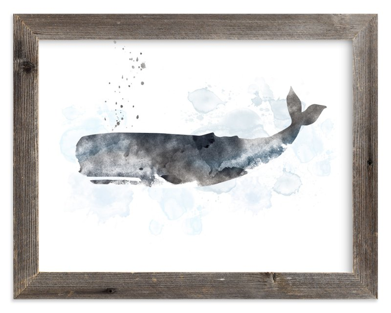 """""""Whale Series One"""" - Limited Edition Art Print by Shirley Lin Schneider in beautiful frame options and a variety of sizes."""