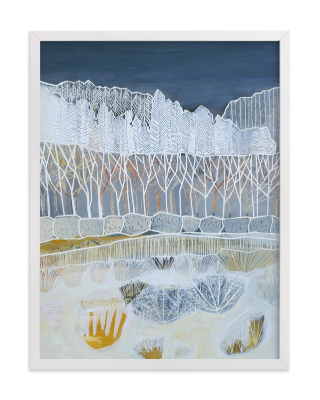 """""""White Woods"""" - Limited Edition Art Print by Sarah Fitzgerald in beautiful frame options and a variety of sizes."""
