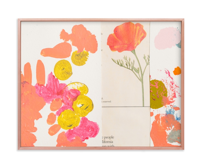 """California Poppy"" - Limited Edition Art Print by Erin McCluskey Wheeler in beautiful frame options and a variety of sizes."