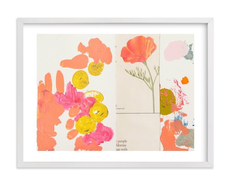 This is a pink art by Erin McCluskey Wheeler called California Poppy.