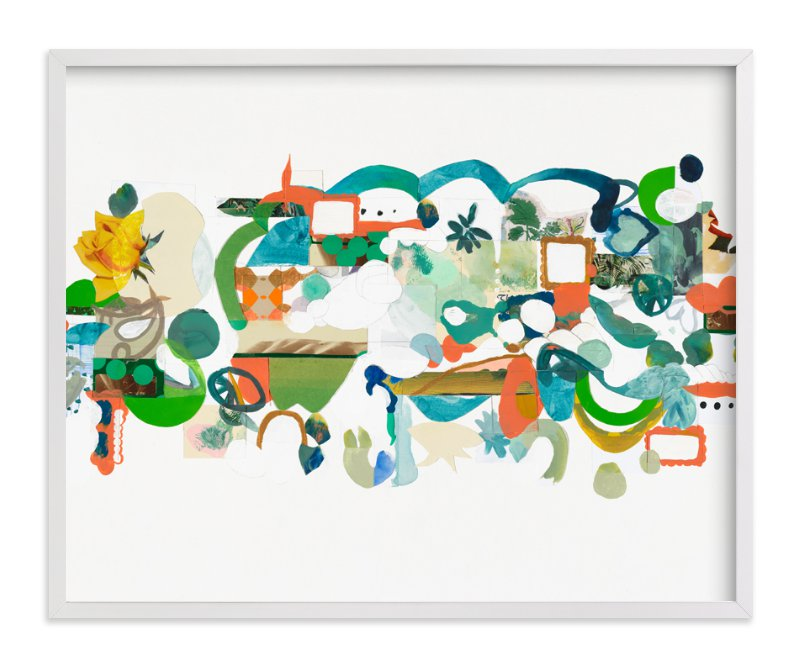 """Green Hills"" - Limited Edition Art Print by Erin McCluskey Wheeler in beautiful frame options and a variety of sizes."