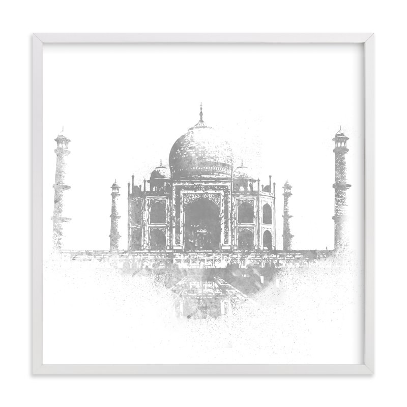 """""""Taj Mahal"""" - Limited Edition Art Print by Paul Berthelot in beautiful frame options and a variety of sizes."""