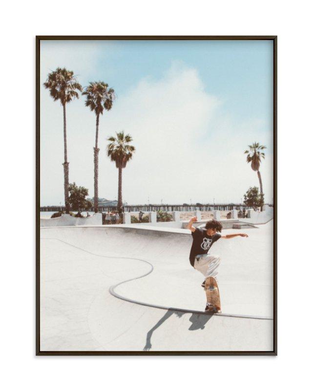 Santa Barbara Skate I Art Print