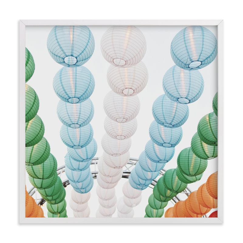 """Paper Lanterns"" - Limited Edition Art Print by Catherine Culvenor in beautiful frame options and a variety of sizes."
