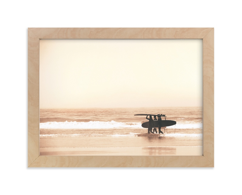 """""""MEND THE HEART FROM THE SEA + THE SAND """" - Limited Edition Art Print by Summer Strauch in beautiful frame options and a variety of sizes."""