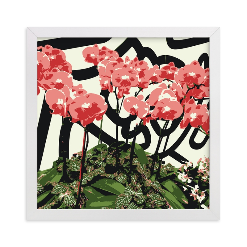 """""""Abstract Orchids"""" - Limited Edition Art Print by Michelle S. in beautiful frame options and a variety of sizes."""