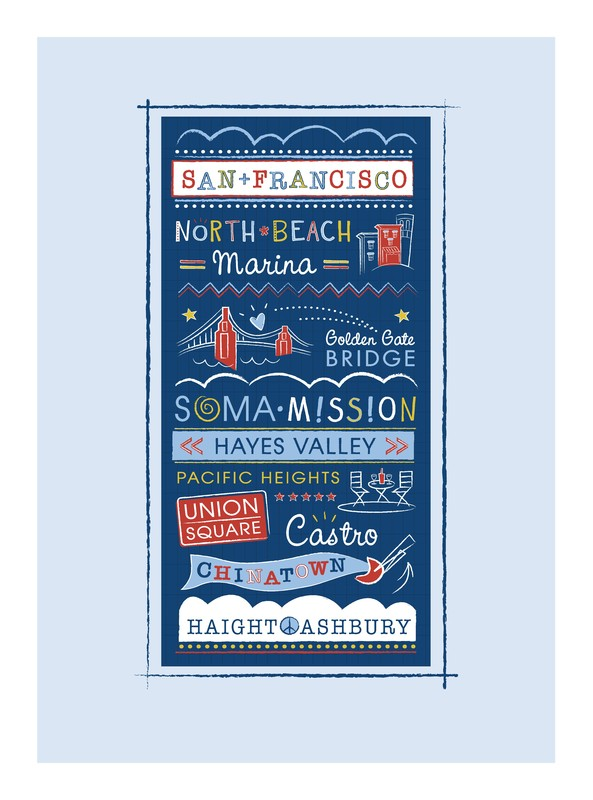 Left My Heart In San Francisco Wall Art Prints By Kimberly Schwede | Minted