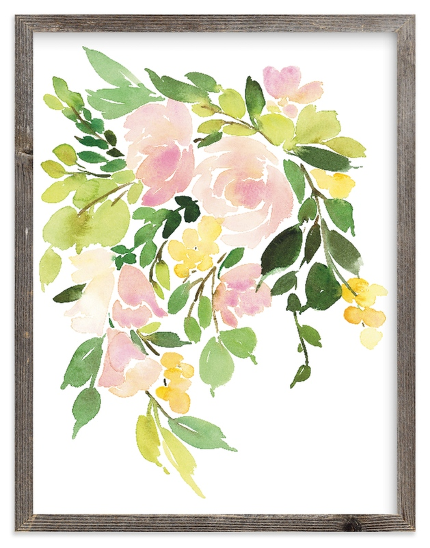 """""""Flora in Peach I"""" - Limited Edition Art Print by Yao Cheng Design in beautiful frame options and a variety of sizes."""